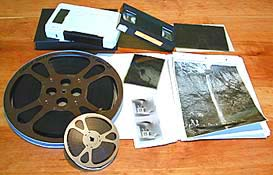 Different formats of video tapes, motion picture film and photographic negatives.