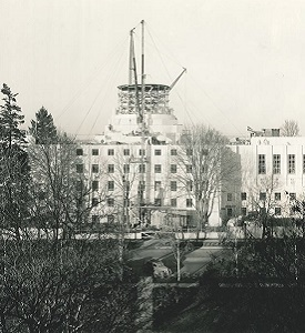 Oregon State Capitol Building under construction