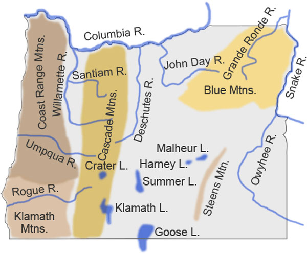 Oregon Secretary Of State Oregon Maps - Map of oregon lakes