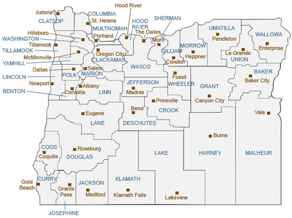 Map Oregon Counties Oregon Secretary of State: Oregon Maps