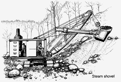 Steam shovel drawing