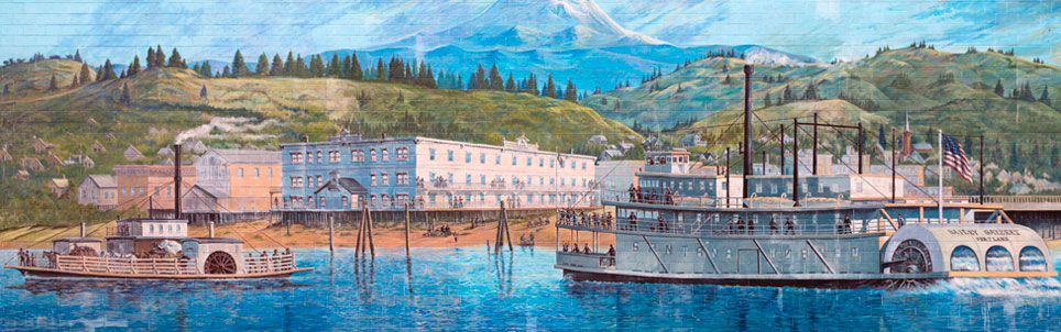 Steamboats at The Dalles