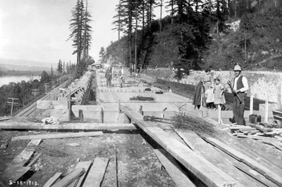 McCoerd Creek Bridge construction