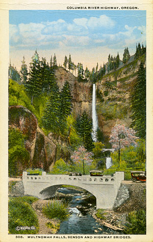 Multnomah Creek Bridge postcard