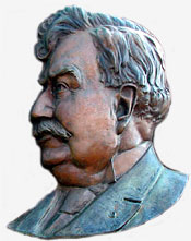Sam Hill bust carving