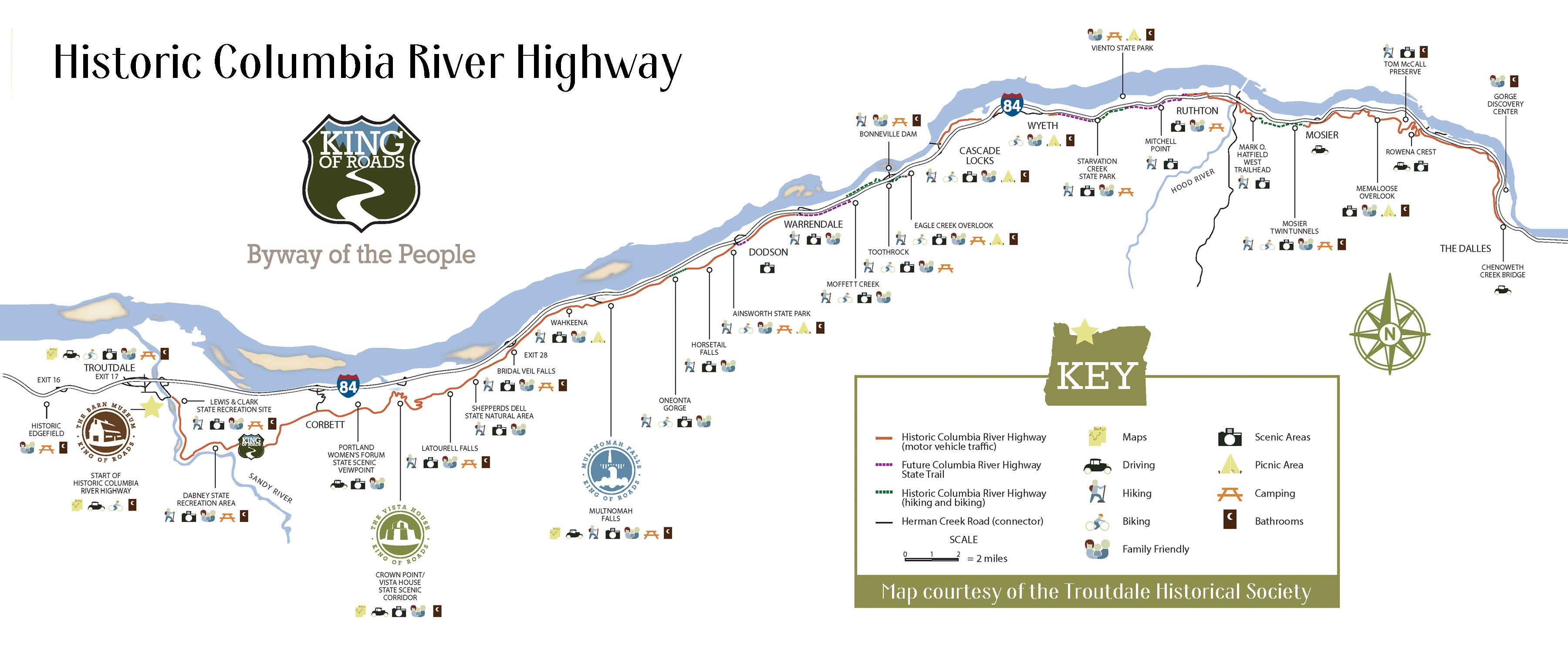 Oregon Secretary Of State Current And Vintage Maps - Map of oregon highways