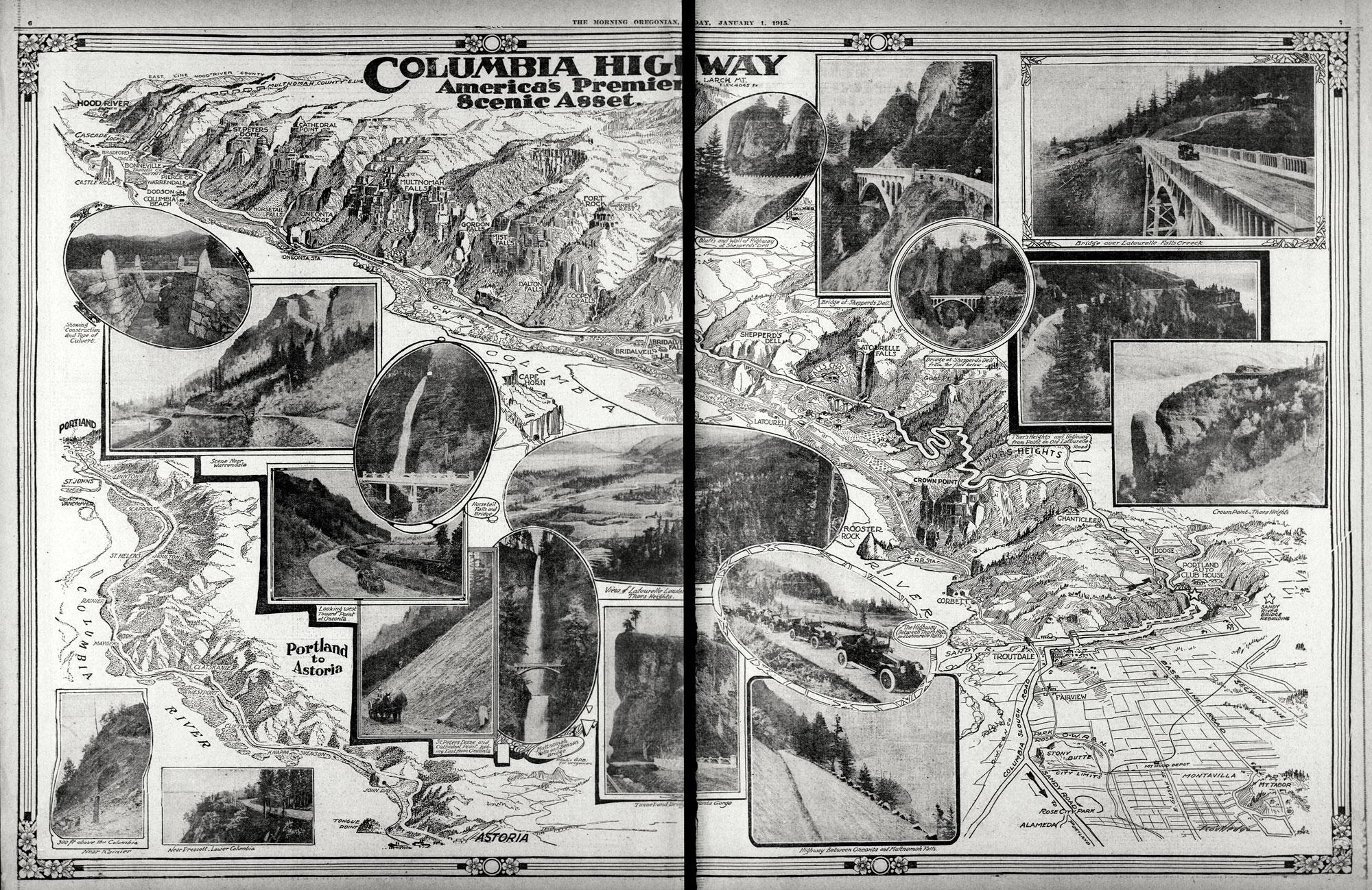 Vintage Oregon Map.Oregon Secretary Of State Current And Vintage Maps