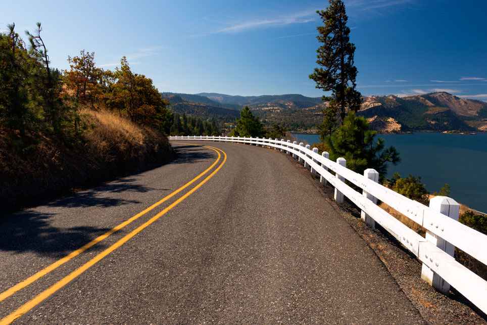 The historic highway near Mosier