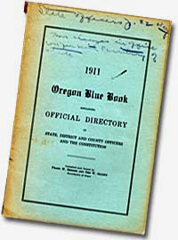 A worn 1911 Oregon Blue Book