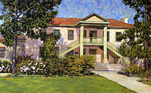 A painting of Colton Hall