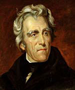 A painting of Andrew Jackson