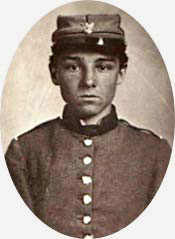 A photo of a young Confederate soldier