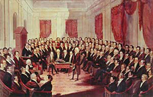 A painting of the Virginia Constitutional Convention of 1830