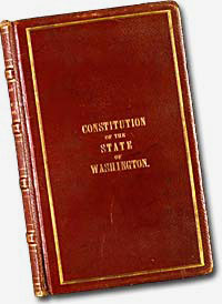The cover of the Washington Constitution