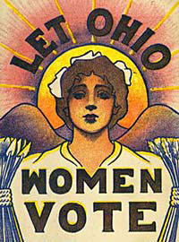 A women's suffrage poster