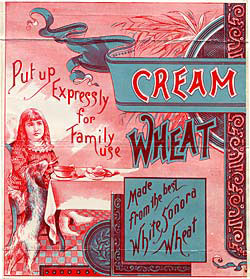 A Cream of Wheat trademark label