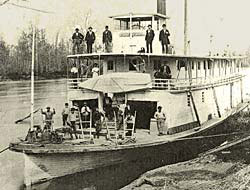 The steamboat Beaver