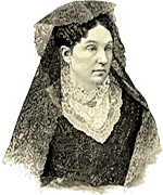 A drawing of Abigail Scott Duniway