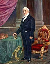 A painting of President Buchanan