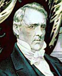 A portrait of President Buchanan