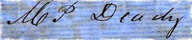 Signature of Matthew Paul Deady