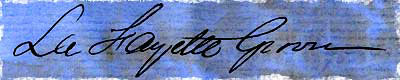 Signature of La Fayette Grover