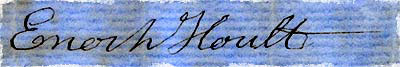 Signature of Enoch Hoult