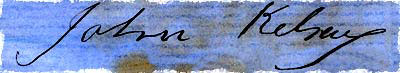 Signature of John Kelsay