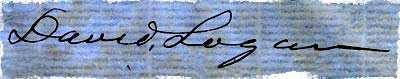 Signature of David Logan.