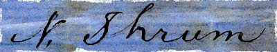 Signature of Nicolas Shrum.