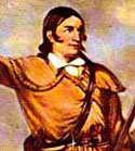 A painting of Davy Crockett