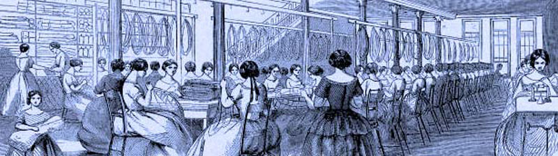Many women working in a factory