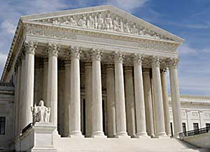 The front of the U.S. Supreme Court Building