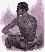 Whip marks on a man's back