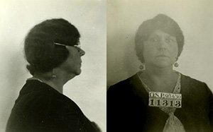 Mug shot of Clara Nichols with prisoner number 11313