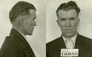 Mug shot for Ernest Patrick with prisoner number 10988