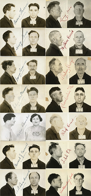 A collage of mug shots of men and 1 woman who were jailed for alcohol related crimes.