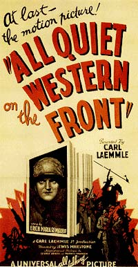 "Poster for movie ""All Quiet on the western front"""