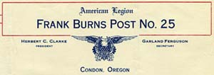 Frank Burns letterhead
