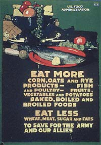 """Eat more corn, oats and rye products - fish and poultry - fruits vegetables and potatoes baked, boiled and broiled foods"""
