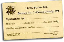 "Card with title ""Local Boar For"" and the words ""Division No. 1, Marion County, Ore."" below."