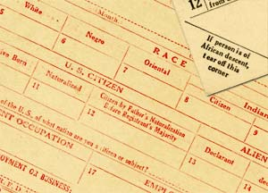 Draft registration cards from WWI.