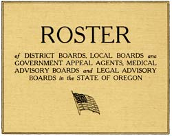 """Roster of district boards, local boards and government appeal agents, medical advisory boards, and legal advisory boards"""