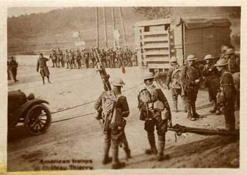 American soldiers moving equipment