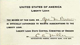 United State of America, Liberty loan card