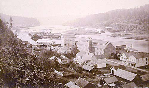 Oregon city and the Willamette Valley 1867