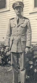 Photo of Ensign Wilson in military formal dress.