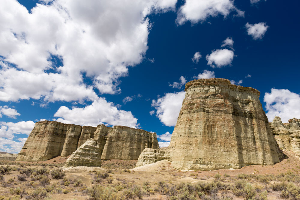 "Rock formations in Malheur County known as ""Pillars of Rome."""