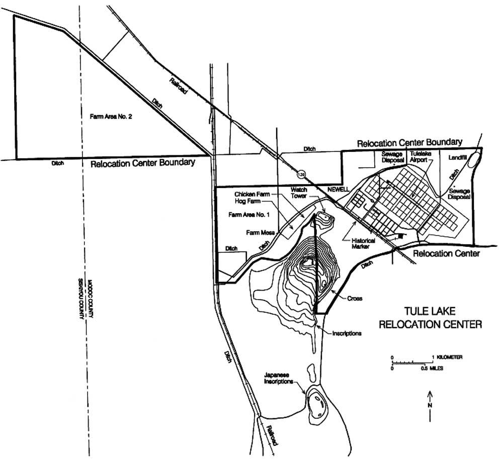 tule lake camp map