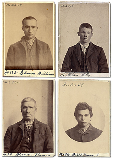 Four inmate photos from 1895